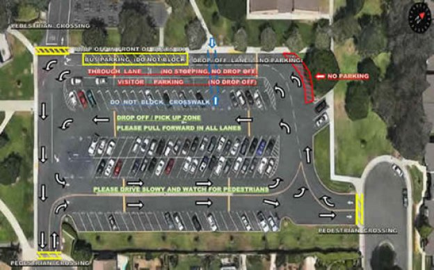 map of school parking lot